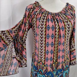 WinWin Tie Sleeve Tunic Boho top